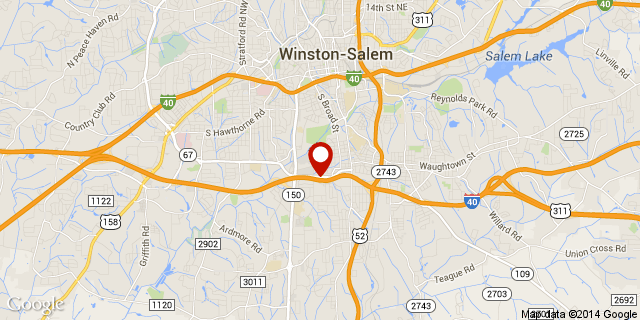 Colfax Furniture (Winston Salem) Map